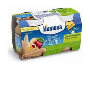 HUMANA MERENDA MELA/BANANA/BISCOTTO BIO 240 G