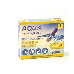 FILTRO AURICOLARE JUNIOR EARPLUG SCUDO AQUASPORT 2 PEZZI