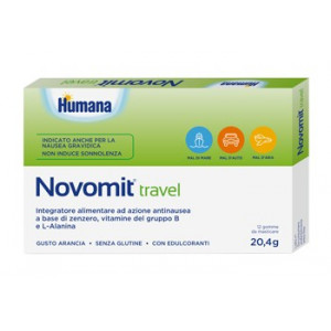 NOVOMIT TRAVEL 12 GOMME DA MASTICARE GUSTO ARANCIA