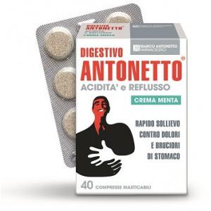 DIGESTIVO ANTONETTO ACIDITA' E REFLUSSO CREMA ALLA MENTA 40 COMPRESSE...